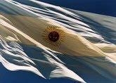 Salve Argentina . Bandera azul y blanca