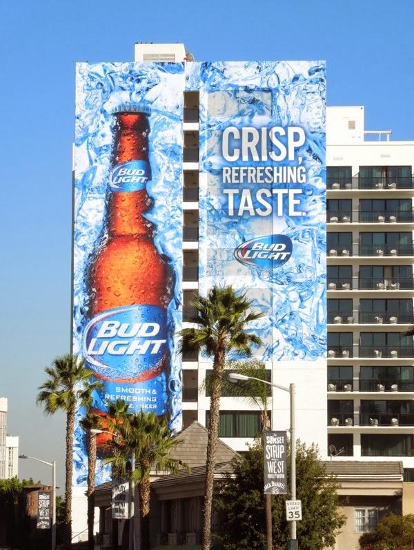 Giant Bud Light Crisp Refreshing Taste billboard Mondrian Hotel