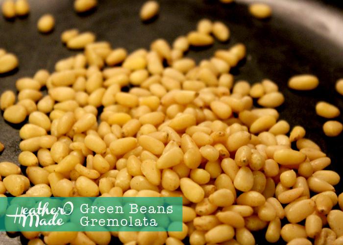 green beans gremolata. heatheromade.