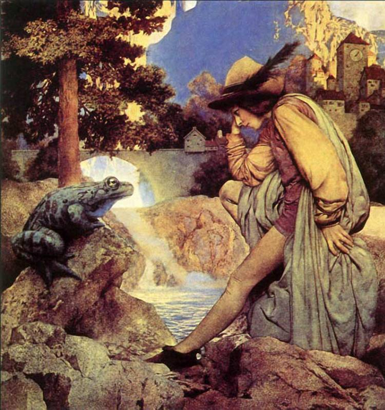 Maxfield Parrish: The Frog Prince