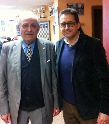 Joaquim Travesset y Josep Alió el 23 de febrero de 2014 en Tarragona