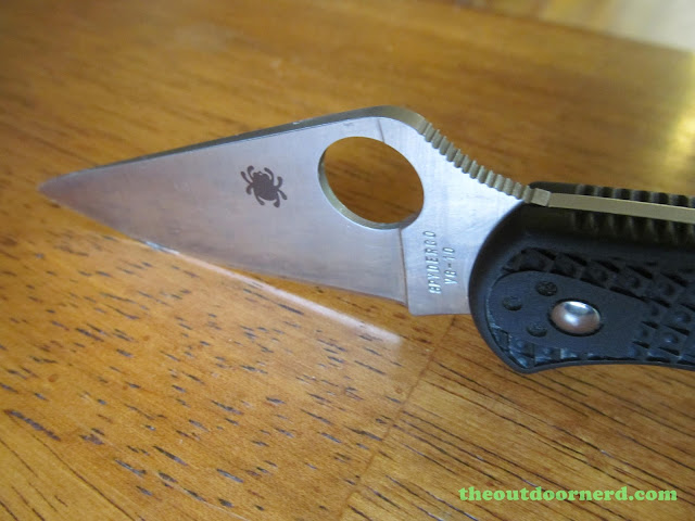 Spyderco Delica 4 FRN Pocket Knife: Another Closeup Of Blade