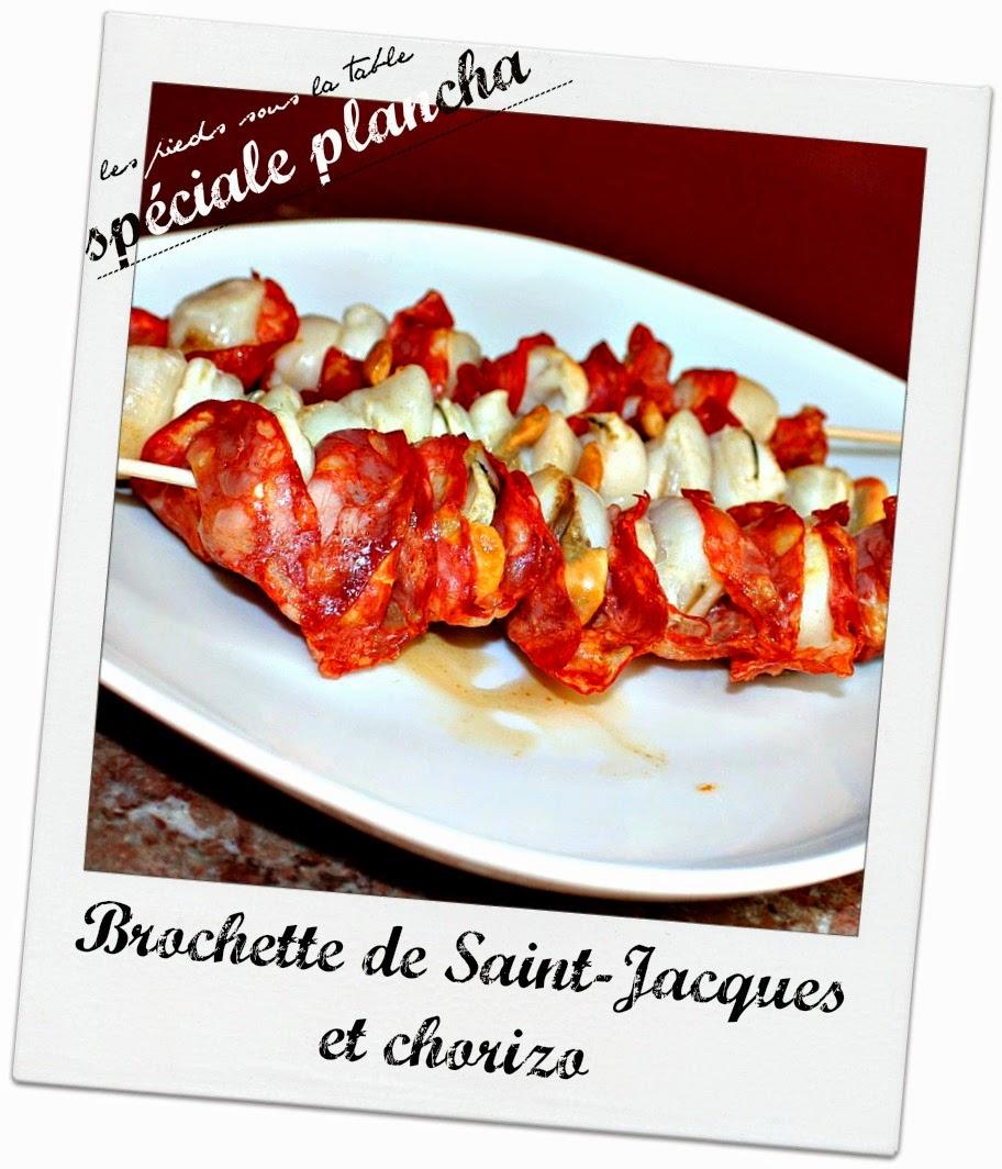 Brochette de Saint-Jacques et chorizo