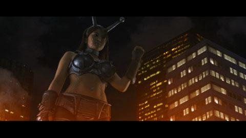 Akiko giant robot in zaborgar
