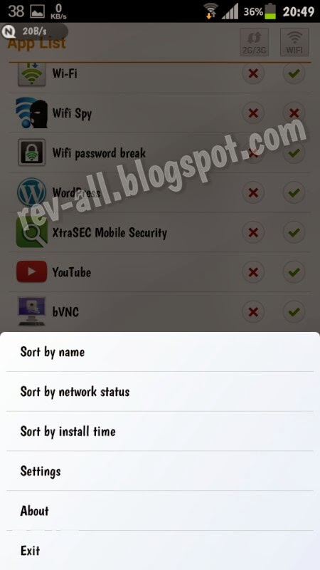 Menu NetAssistant - aplikasi firewall internet (rev-all.blogspot.com)