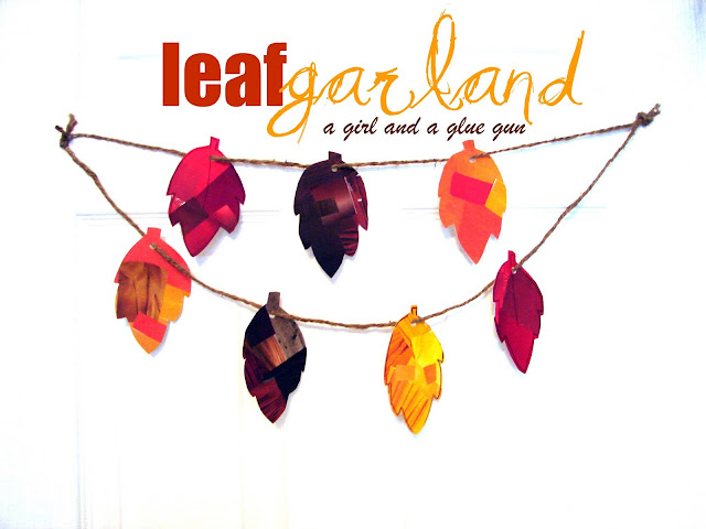 Magazine Leaf Garland | A Girl and a Glue Gun