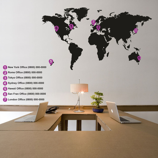 Living room world map interior wall art stickers design design nex get this interior living room design wall stickers gumiabroncs Choice Image