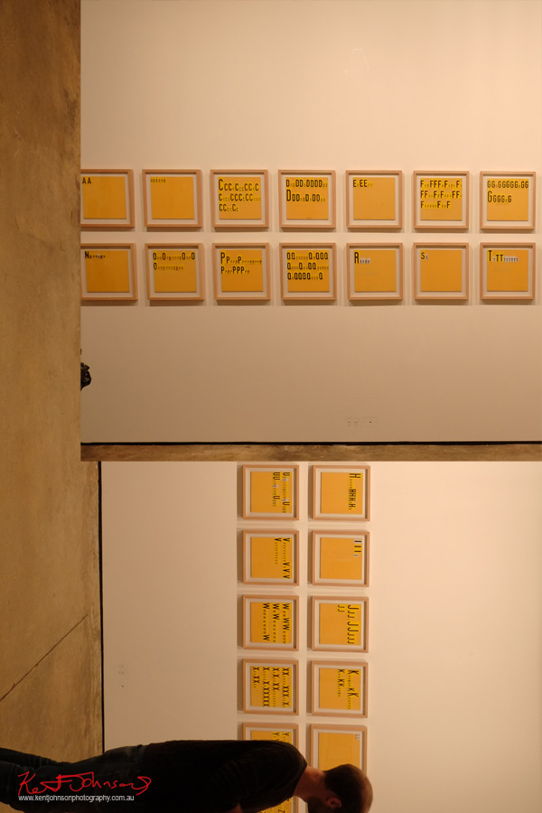 Peter Atkins, Martin Browne Contemporary, Rosalie's Alphabet. Photo by Kent Johnson.