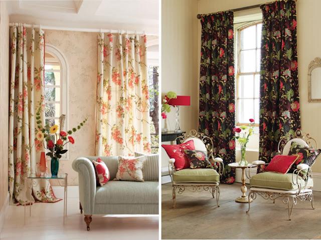 Decorar interiores con cortinas floreadas coloridas gu a for Decorar cortinas para dormitorio