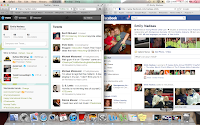 My Facebook and Twitter