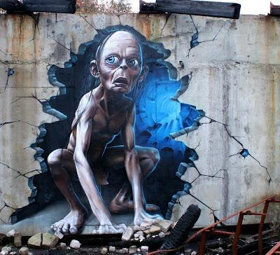 graffiti de Gollum