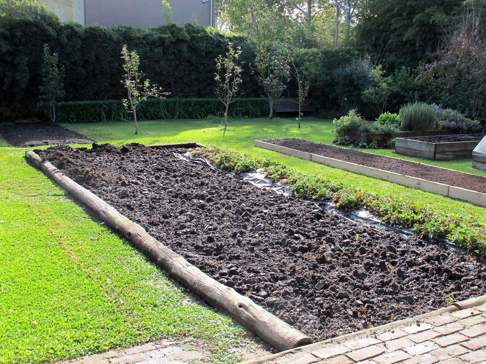 En el jardin nuevo cantero en construcci n for Canteros de jardin