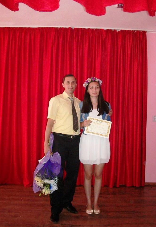Cu eleva Delia Oană (XI C), Premiul I (20.06.2014)....