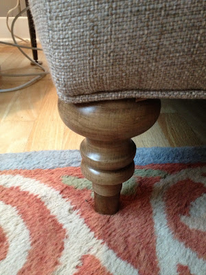 Lee Industries sofa leg -- The Impatient Gardener