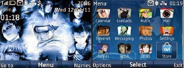Download Tema nokia c3, x2, asha 305 - Naruto