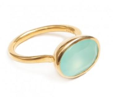 Amara Amara Aqua Chalcedony Ring