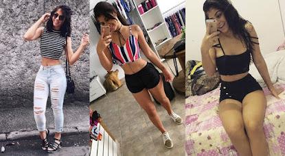 Modelo mostra boa forma e exibe nas redes sociais cintura perfeita