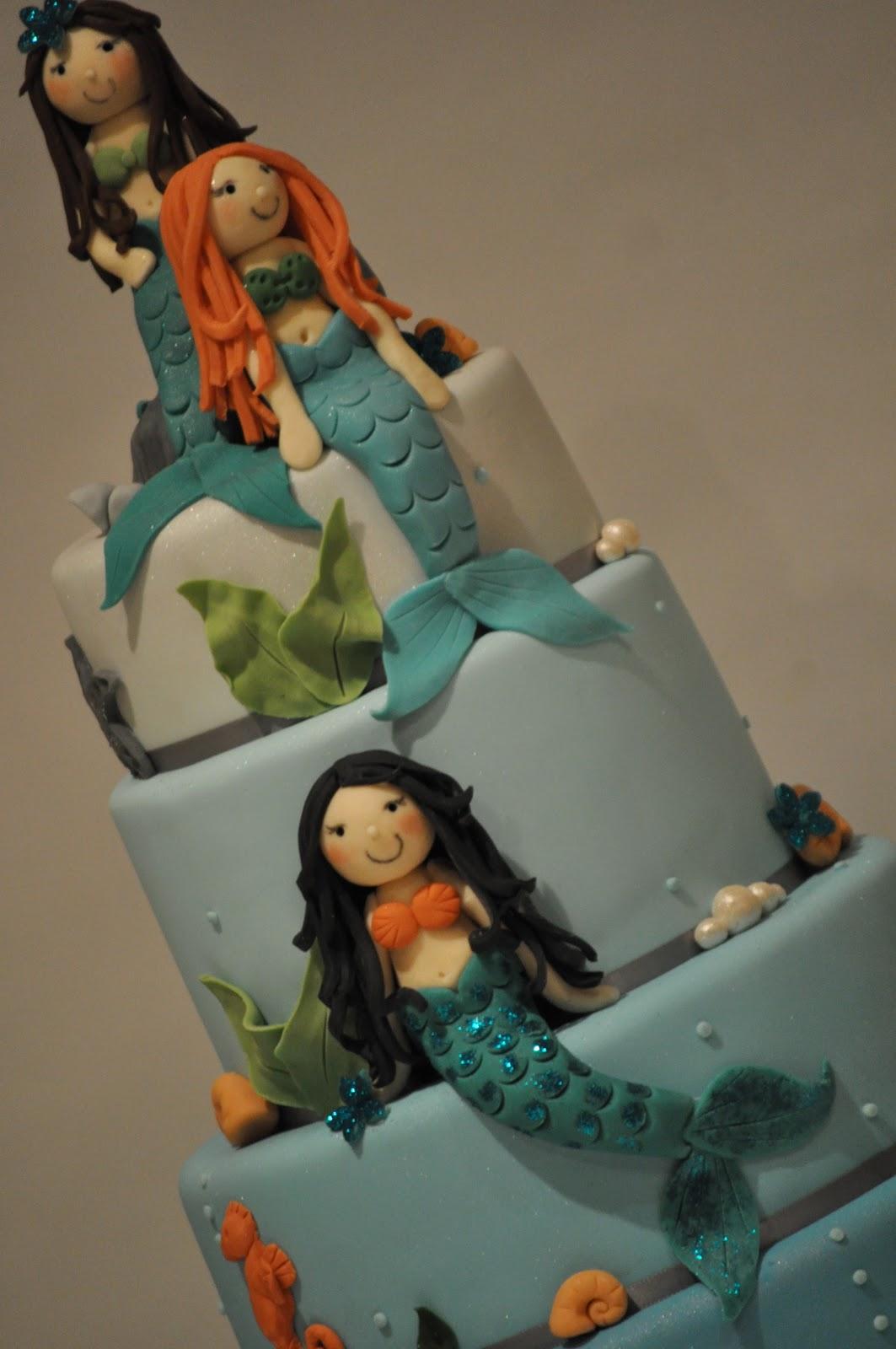 Mermaid Cake Blue Cupcake