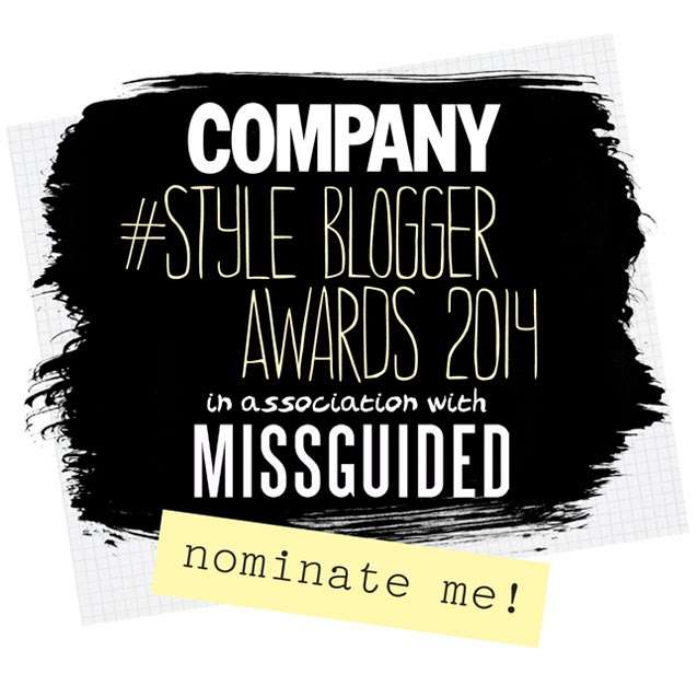 Click here to vote for me as 'Best Personal Style Blog'
