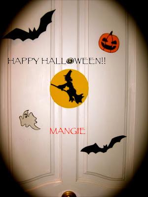 Puerta decorada Halloween