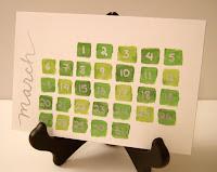 Kézzel készített naptár