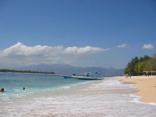 Foto Pantai Gili Trawangan Objek Wisata Lombok Indah