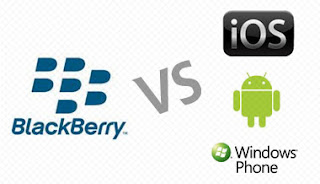 BlackBerry vs iOS, Android, Windows Phone