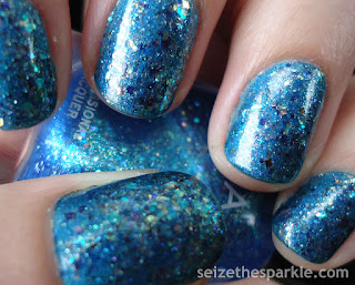 China Glaze Moonlight the Night, Pahlish Gumdrop Rooftop