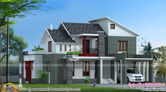 modern mix Kerala home
