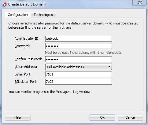 Oracle SOA 12c Default Domain