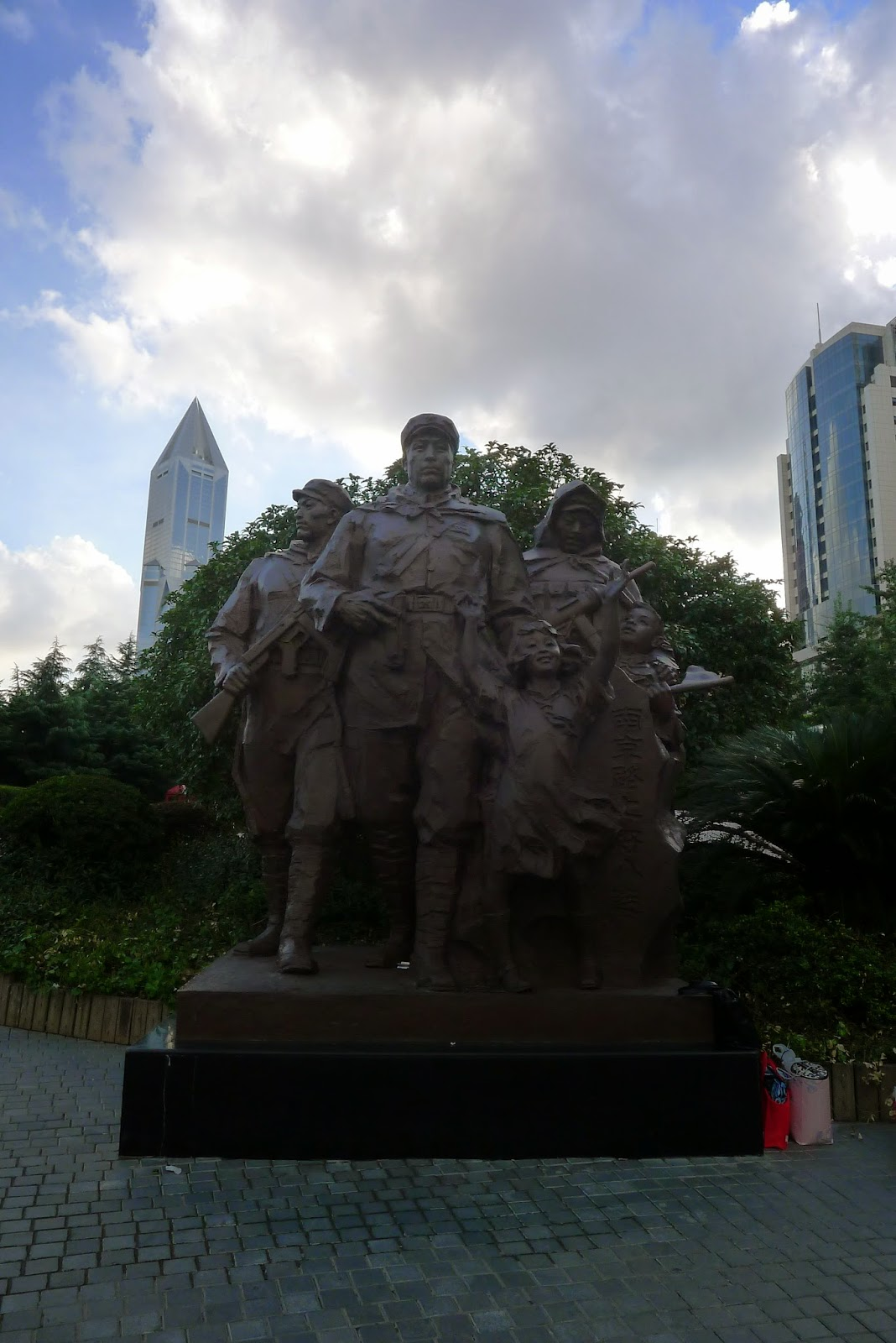 Patriotic Chinese Statues