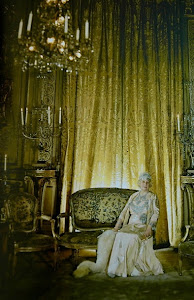 Mrs. Vanderbilt In The Gold Room at 640 Fifth Avenue