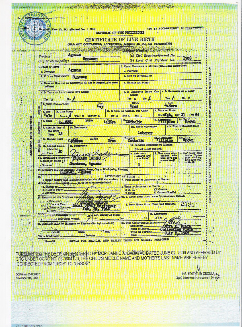 Reydocs2015 certificate of live birth from nso certificate of live birth from nso xflitez Choice Image