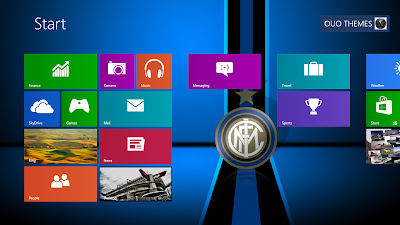 2013 Inter Milan Fc Theme For Windows 8