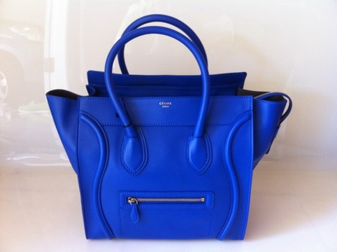 Celine Cobalt Blue Mini Luggage - 2,645