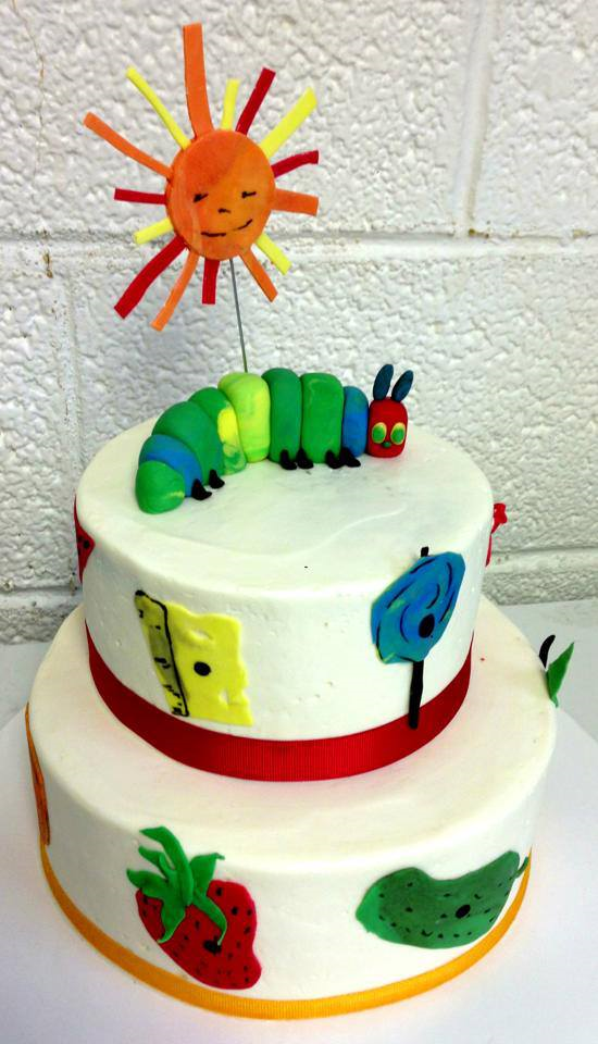 tier hungry caterpillar birthday cake