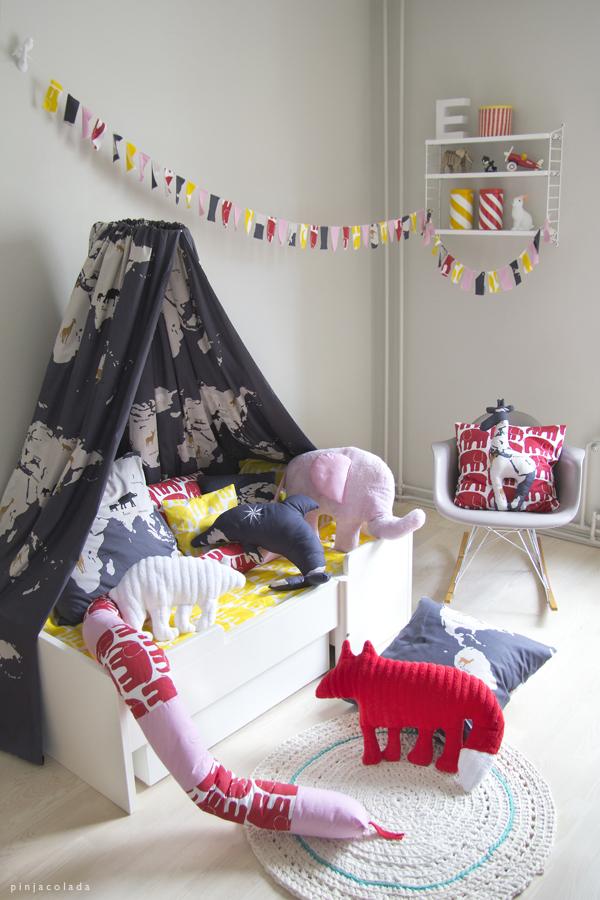 Un dormitorio infantil, 100% hecho a mano