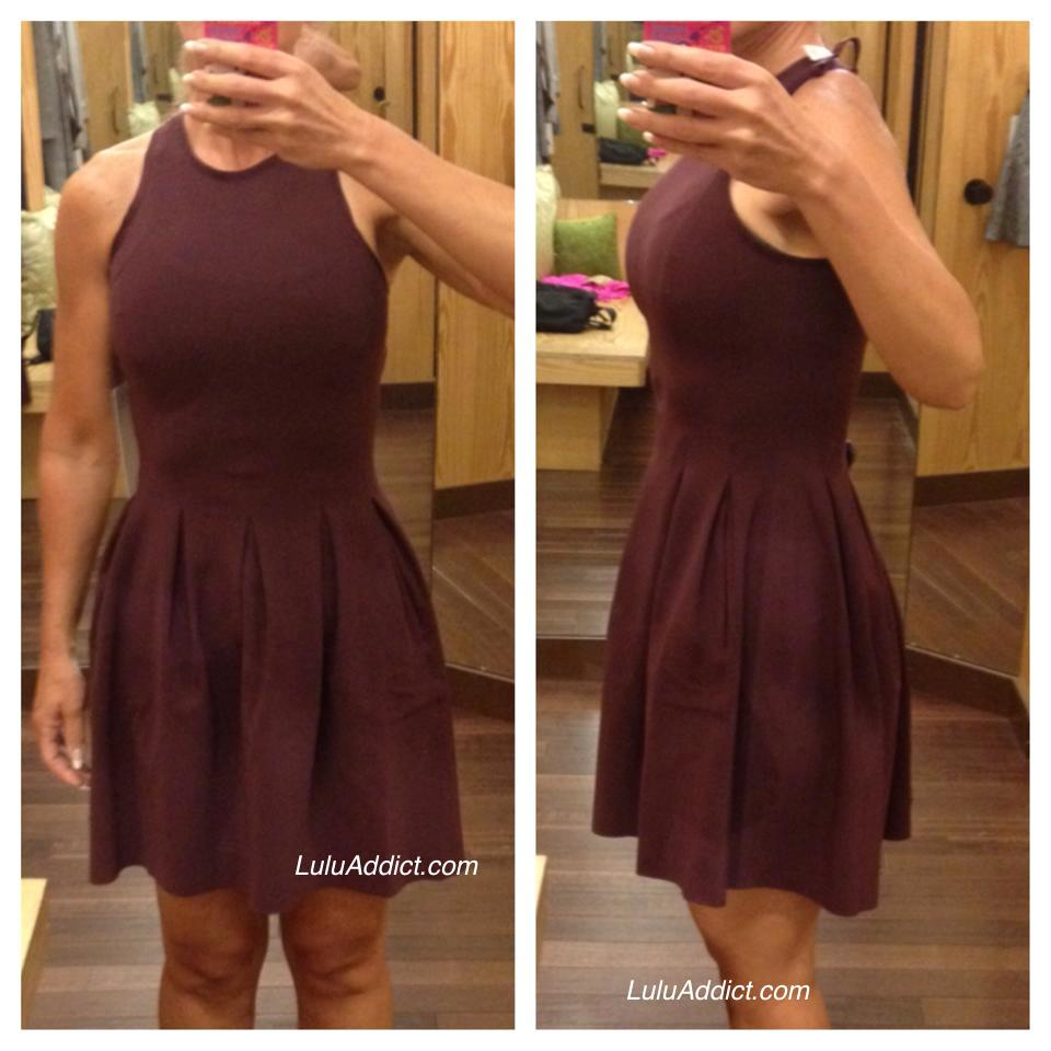 lululemon bordeaux here to there dress
