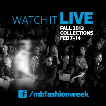 Watch live streams of runway shows on facebook.com/mbfashionweek