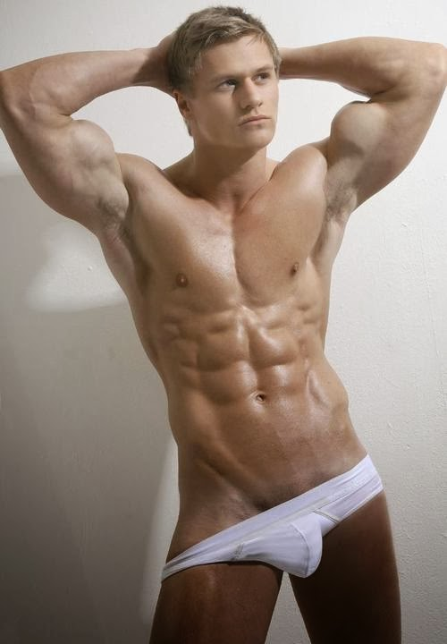 Muscular Blonde Jock's Hairy Armpits