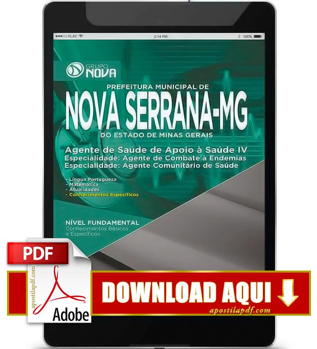Apostila Prefeitura de Nova Serrana MG 2015 Agente Comunitário de Saúde PDF Download