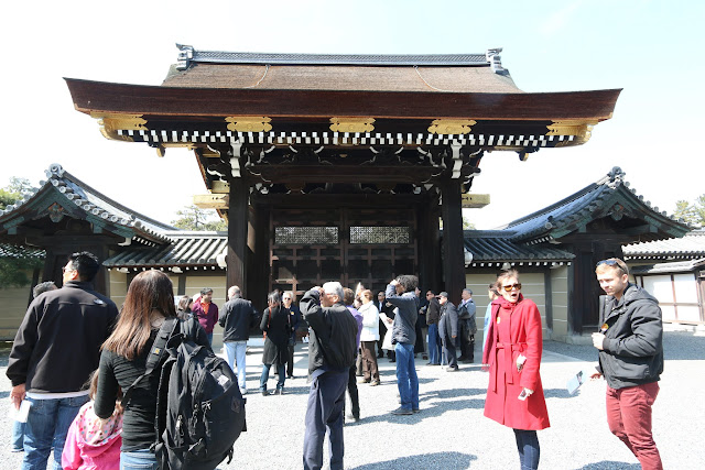 Kenreimon is one of the main entrance gates from the outer to the inner courtyard at Kyoto Imperial Palace in Kyoto, Japan