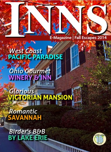 "Inns Magazine spotlights Romantic Savannah Inns in August 2014; Savannah GA named ""Best Fall Getaways"" by US Travel News"