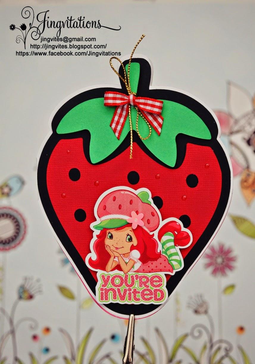 Jingvitations: Strawberry Shortcake Birthday Party Invitations