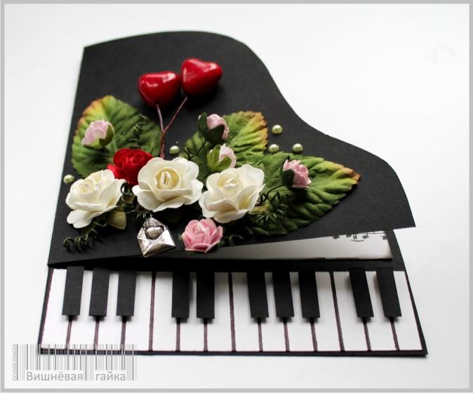 Открытки пианино