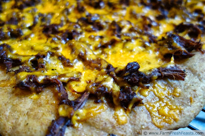 Pumpkin and Black Bean Pizza on Roasted Pumpkin Dough | Farm Fresh Feasts