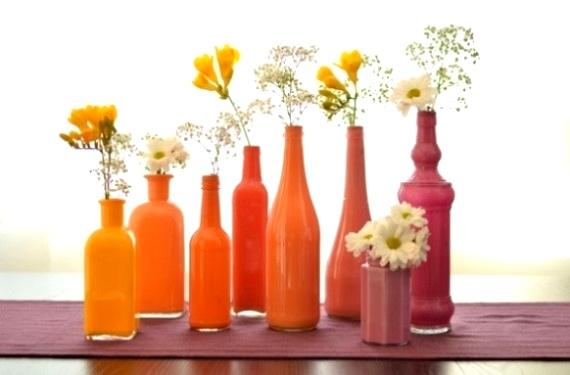 Cara Membuat Kerajinan Tangan Yang Mudah, Membuat Vas Dari Botol Bekas
