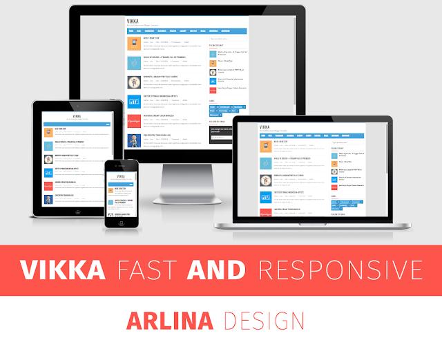 Template Premium Vikka Blogger Version