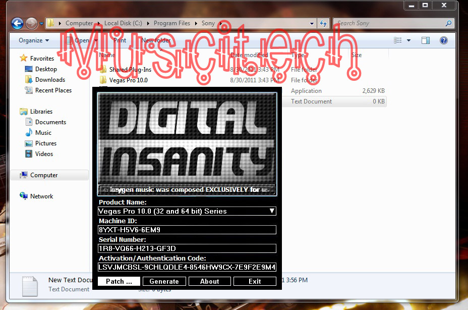 sony vegas keygen digital insanity