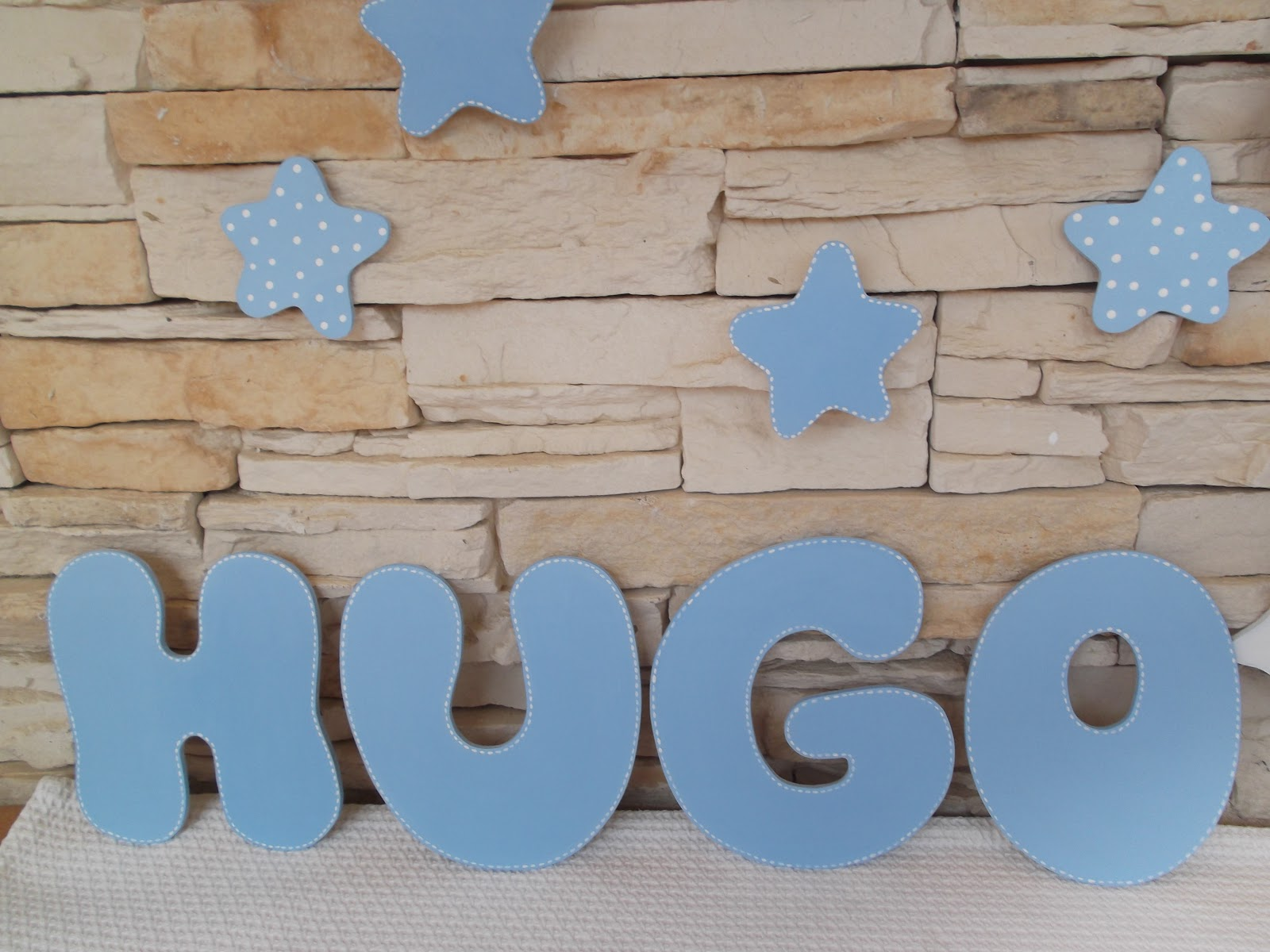 Decoraci n infantil pekerines letras de madera para - Casa letras madera ...